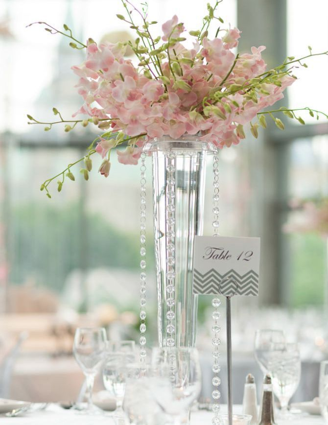 decoration table mariage vase