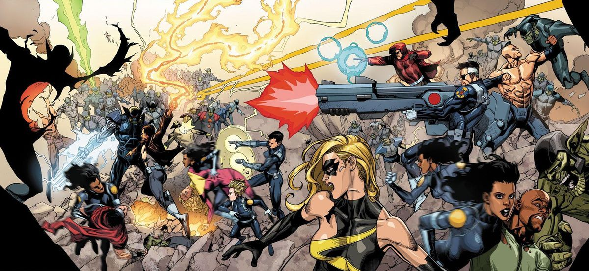 Les Secret Warriors lors de l'évènement Secret Invasion