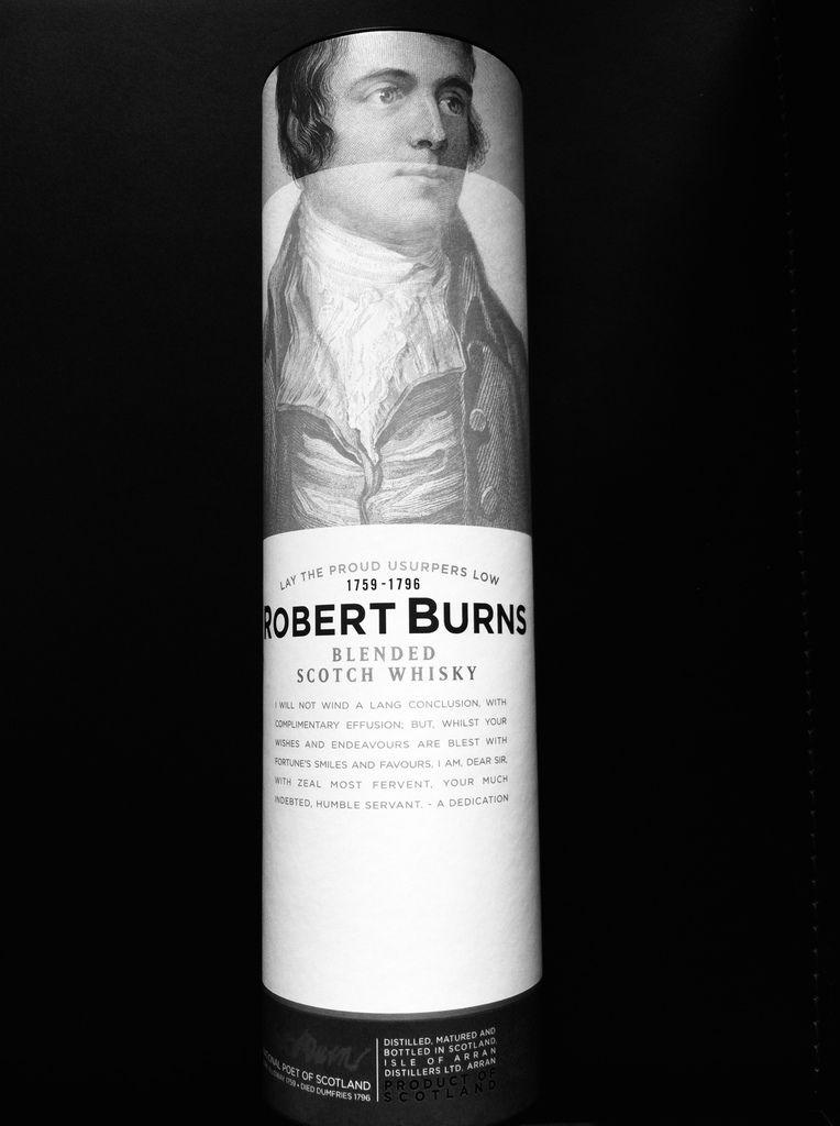 A bottle of Scotch Whisky Robert Burns