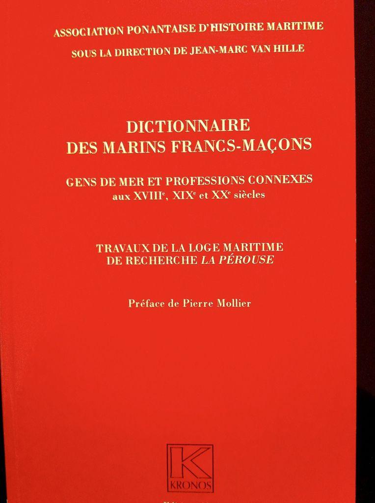 Couverture Dictionnaire des Marins Francs-Maçons.