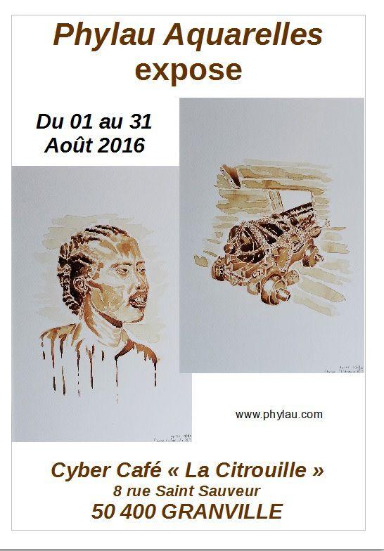 Exposition au Cyber Café &quot&#x3B;La Citrouille&quot&#x3B;