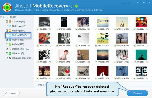 download and install jihosoft android phone recovery