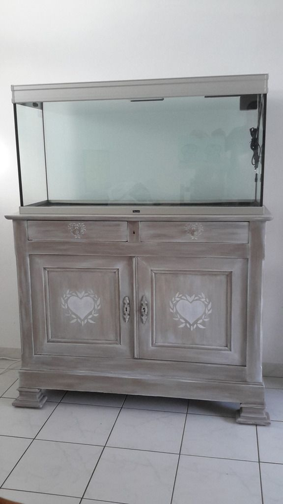 meuble aquarium vasion patine de charme. Black Bedroom Furniture Sets. Home Design Ideas