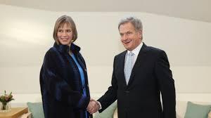 Mme Kersti Kaljulaid avec le Président finlandais Sauli Niinistö