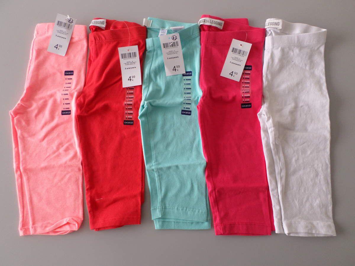 Lot de 5 leggings 3 4 fille OKAIDI en 5ans à 15€ (dont 4 NEUFS sauf ... 4b774a5373ff