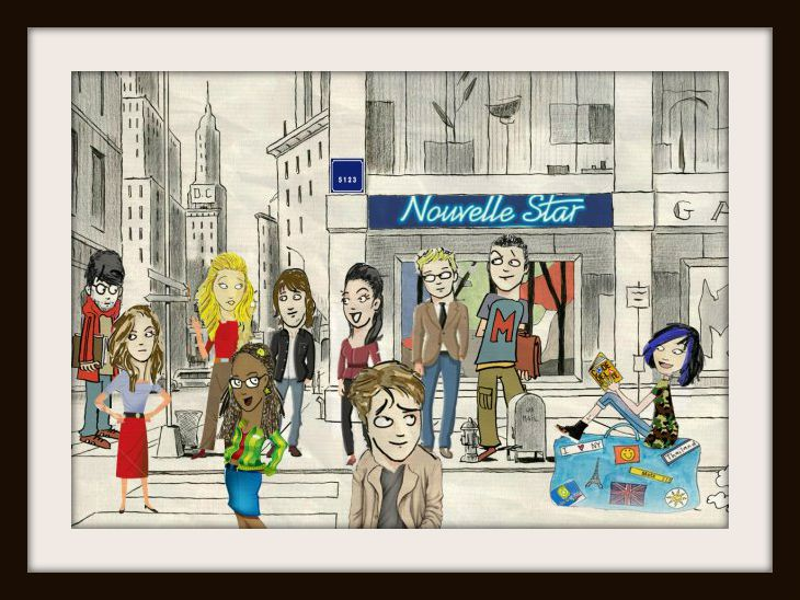 Caricature Nico (Iamnotasheep) et ville François Avril