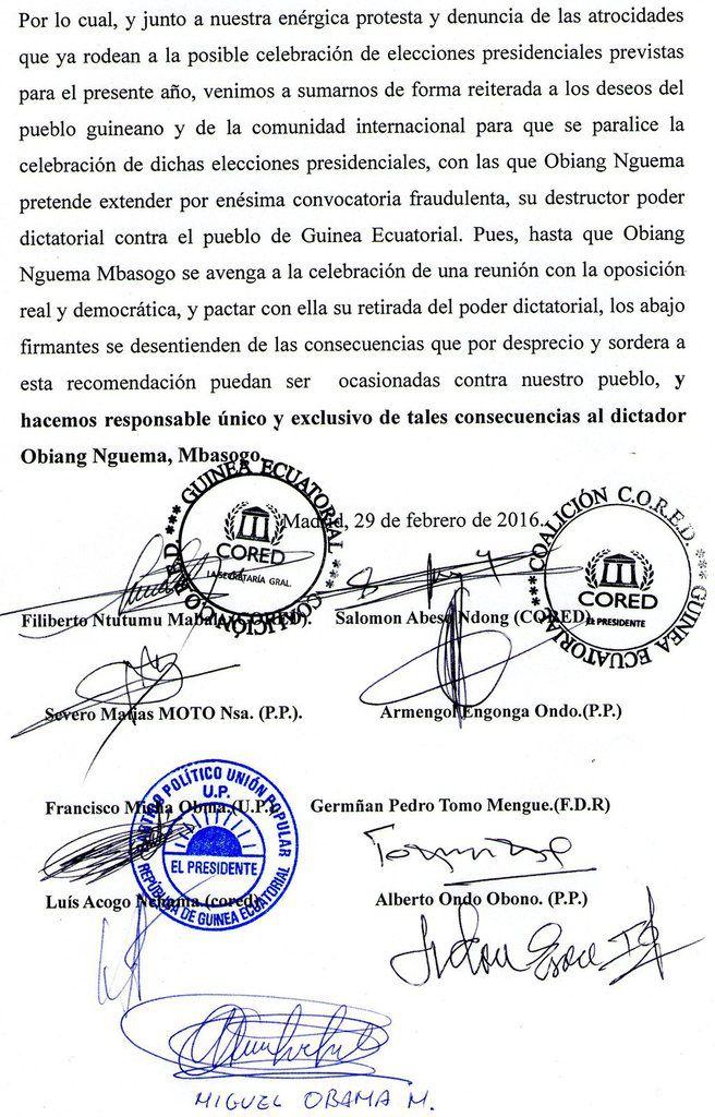 LOS PARTIDOS DE LA OPOSICIÓN EXILIADA, EMITIERON -LA DECLARACIÓN CONJUNTA DE MADRID-.