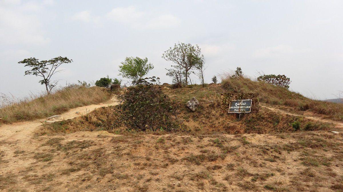 La végétation a bien du mal à pousser dans les trous laissés par les bombes