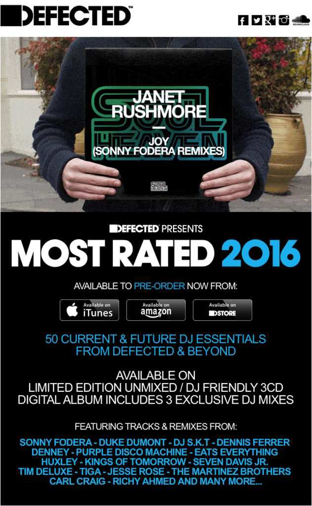 DEFECTED, MOST RATED 2016