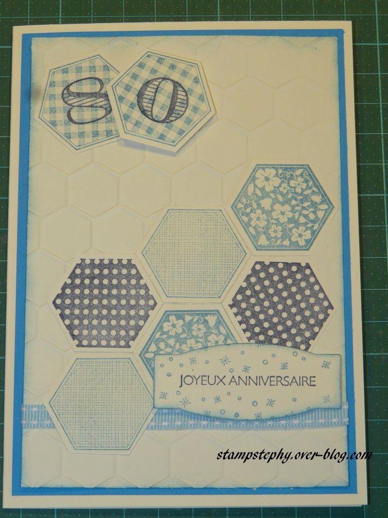 carte d'anniversaire hexagone...