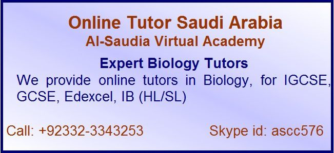 Online Biology Tuition Saudi Arabia Kuwait Qatar Pakistan  Online Biology Tuition Saudi Arabia: Online Tutor Saudi Arabia, Al-Saudia Virtual Academy, Saudi Arabia and Middle East leading online tutoring service.  Online Biology Tuition Saudi Arabia: Provider of world best online Biology, Botany, Bio chemistry, Genetics, Zoology and teachers of other biological science and subjects.