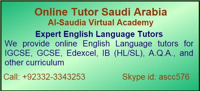 English Language Online Tutor in Saudi Arabia