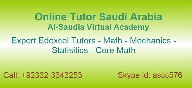 Online Edexcel Mathematics Tutors Saudi Arabia