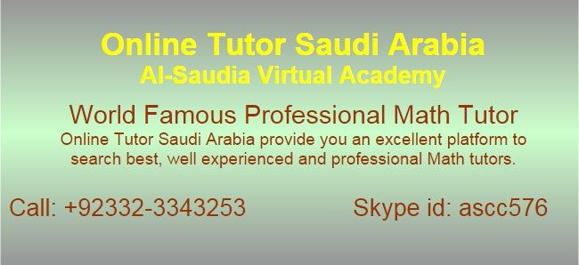 Online Mathematics Tuition Saudi Arabia