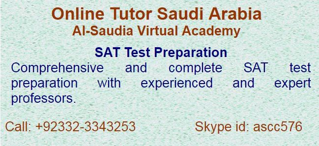 one of the oldest and reliable tutors academy in Middle East for all kinds of Academic Test preparation, like SAT, ECAT, MCAT etc.