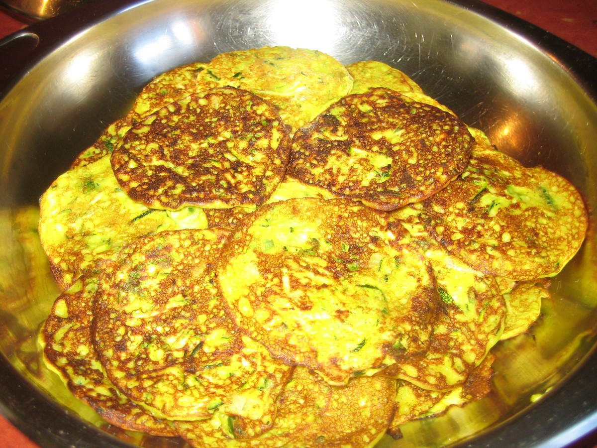pancakes de courgette coco et curry