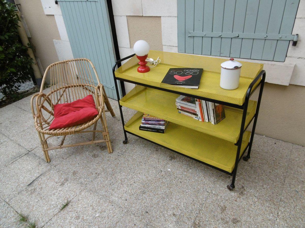 desserte vintage m tal industage. Black Bedroom Furniture Sets. Home Design Ideas