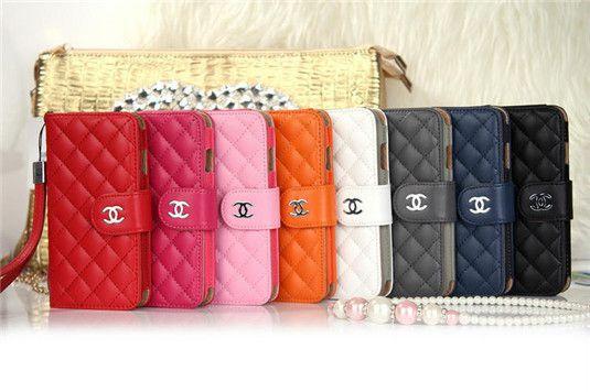 Chanel iphone6 Hülle/Handytasche aus besondere feinsten Leder-Material,klassische Chanel Flip Hand Tasche