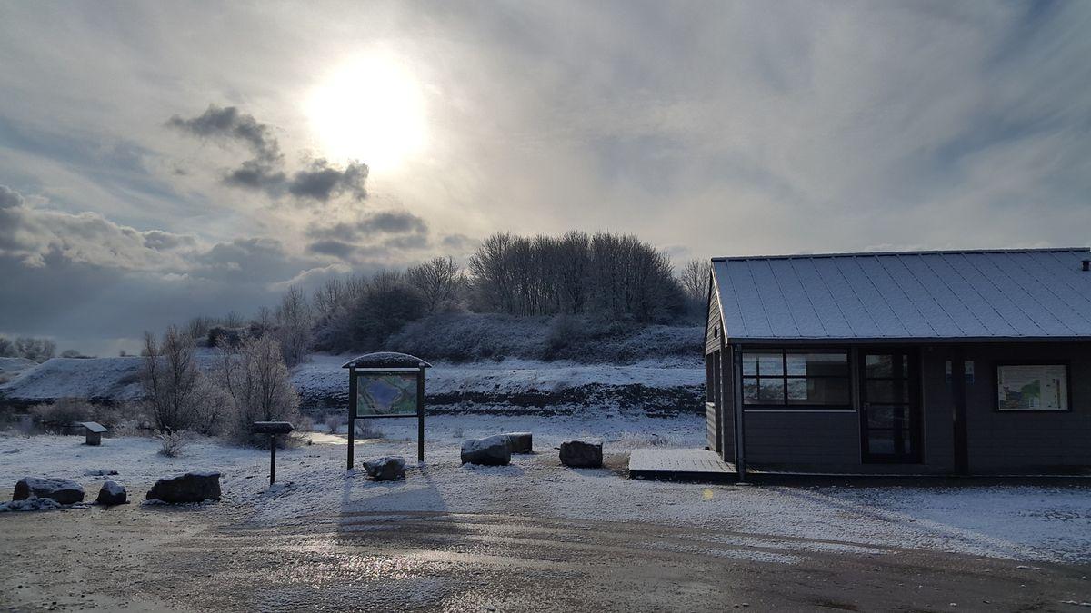 Carrière de Fresville sous la neige