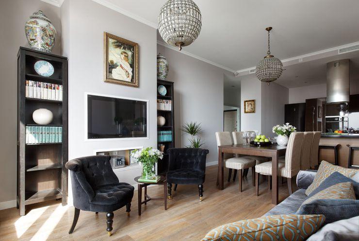 el gance et sobri t pour ce petit appartement moscou sodzign. Black Bedroom Furniture Sets. Home Design Ideas