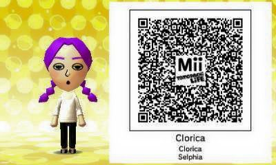 QR Code Tomodachi Life : Clorica (RF4)