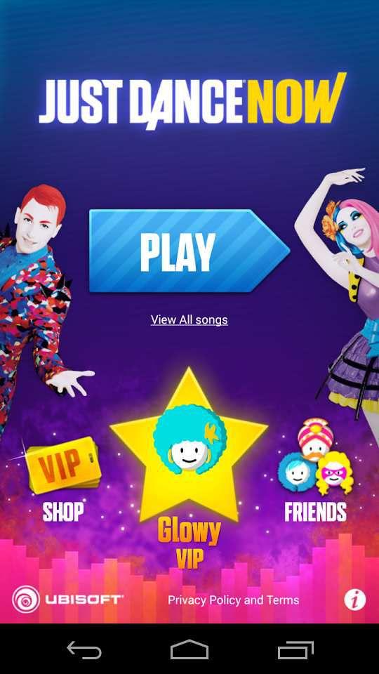 Page d'accueil de l'application mobile
