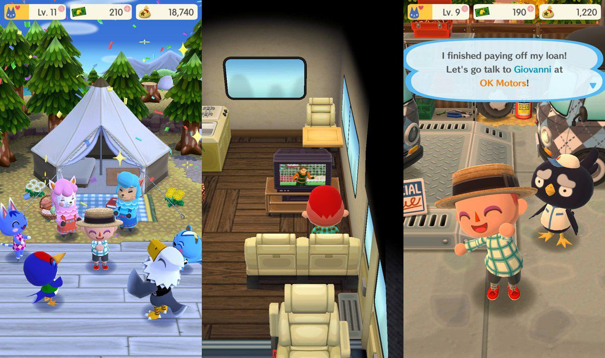 Animal Crossing Pocket Camp - Découverte de l'internet