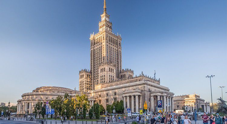 Palais de la culture et de la science de Varsovie.Palace of Culture and Science of Warsaw.