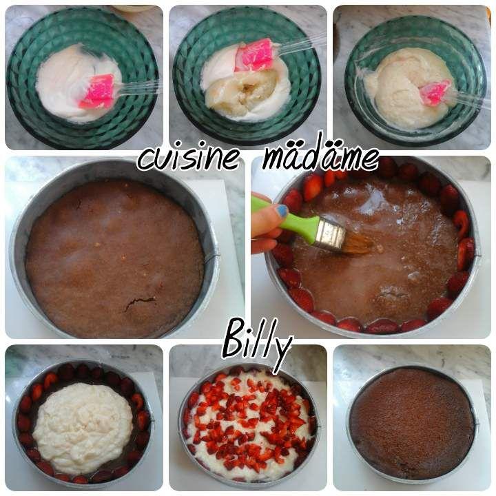 Fraisier fraise/chocolat فرزير الشوكولاته و الفراولة
