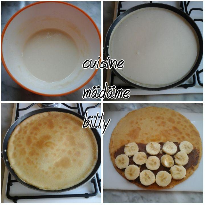Crêpes au nutella et à la banane كراب الموز و النوتيلا
