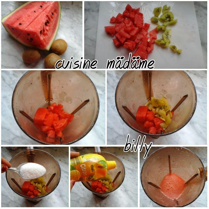 Jus citron,pastèque et kiwi عصير البطيخ،الكيوي والليمون