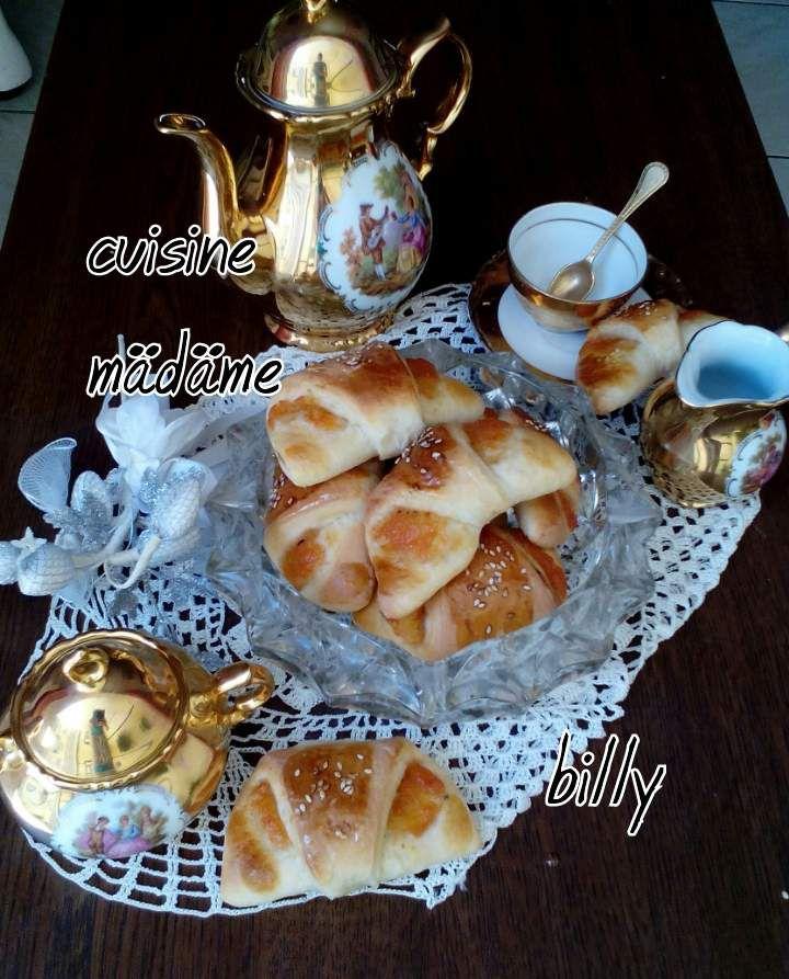  Minis croissants à la confiture de pêches بريوش بالمربي الخوخ