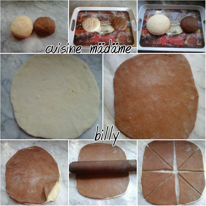 Croissants brioché bicolores بريوش ذو لونين