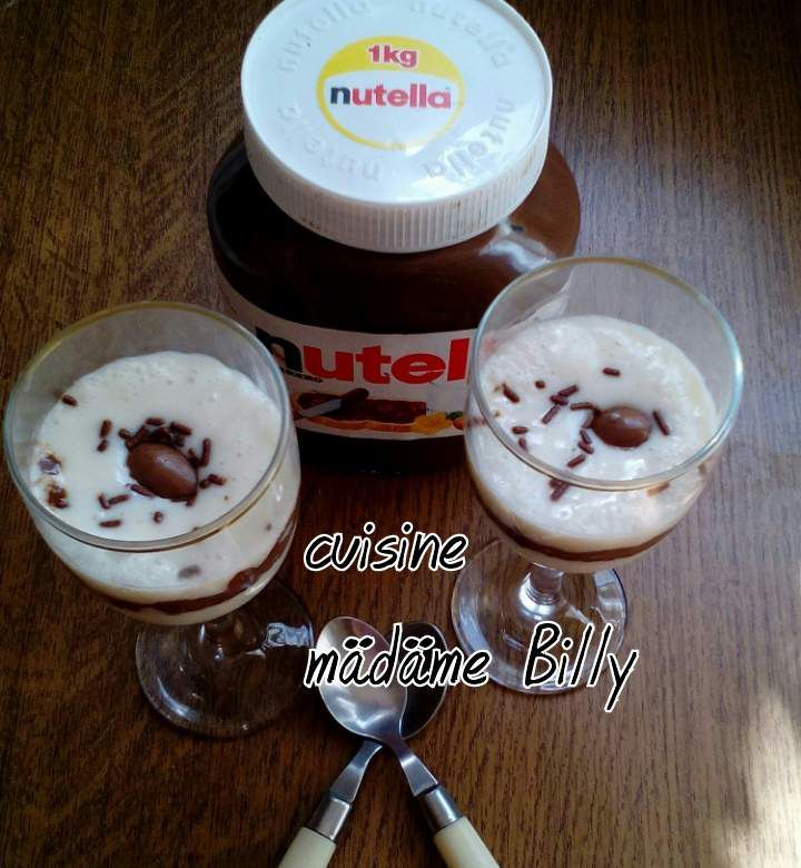 crème au nutella كريم النوتيلا