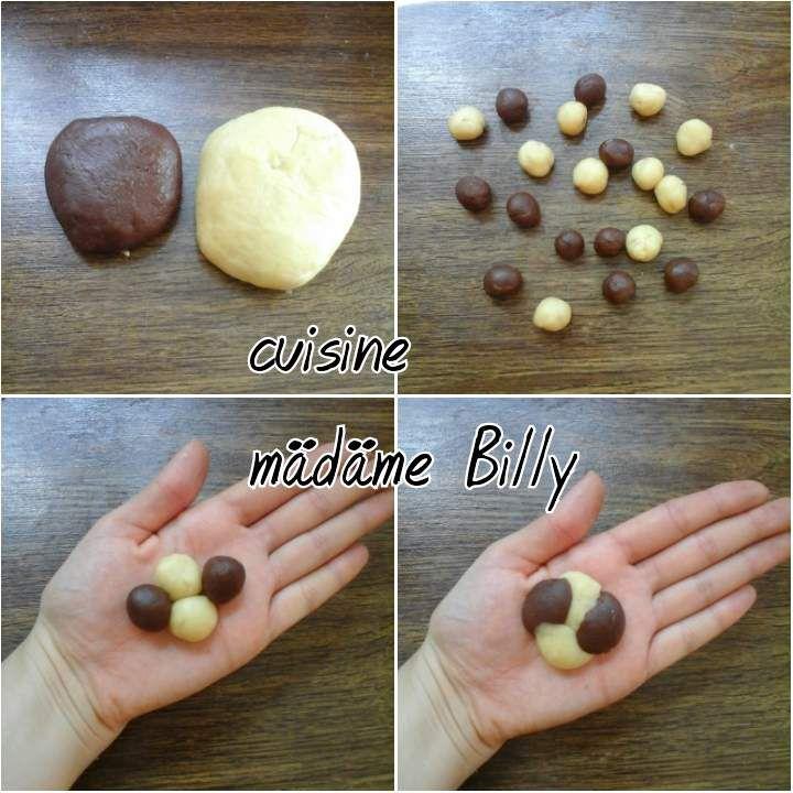 Biscuits vanille et chocolat بسكويت فانيليا/شوكولا