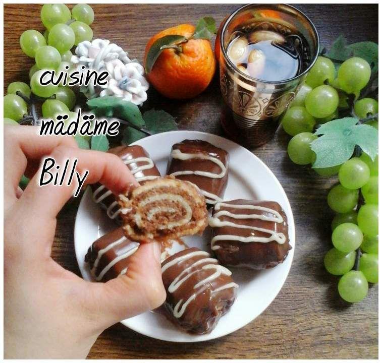 Biscuit roulé vanille/chocolat بسكويت بالفانيليا و الشوكولاته