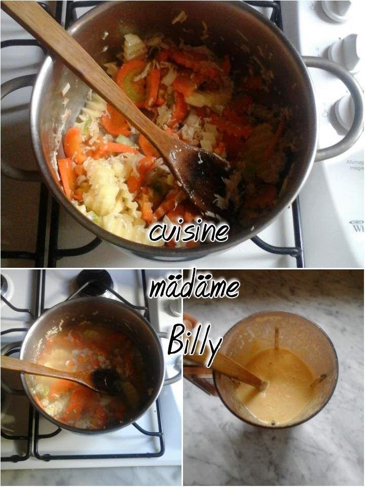 Soupe à la crème حساء بالكريم