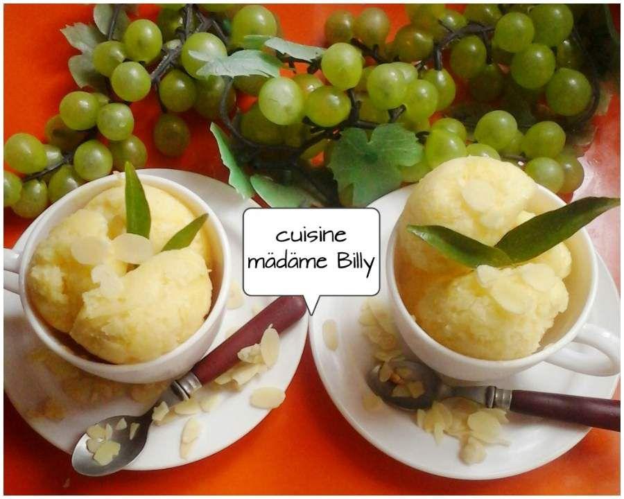 Glace au citron et au yaourt الايس كريم الليمون و الياغورت