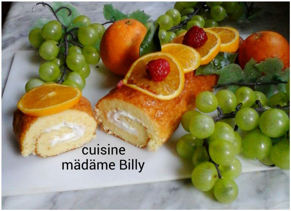 GÂTEAU ROULÉ À L'ORANGE قاطو رولي بالبرتقال