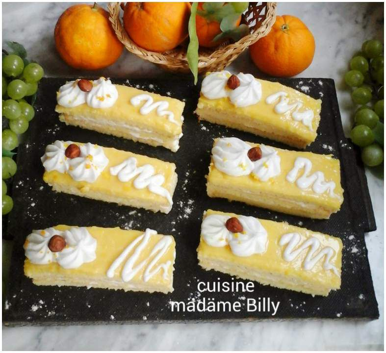 Tranches gâteau au orange et chantilly شرائح القاطو البرتقال و الشانتلي