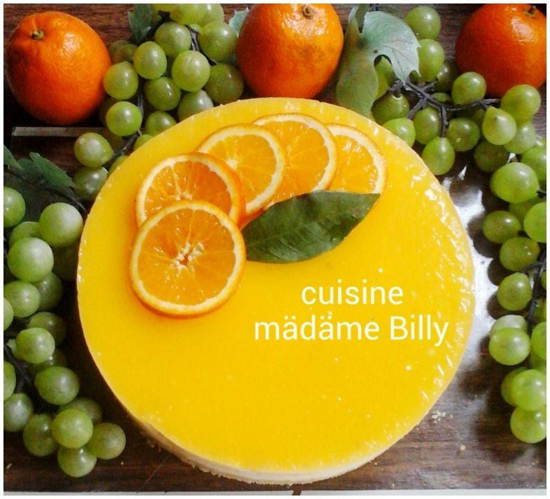 Cheescake à l'orange sans cuisson تشيز كيك بالبرتقال دون فرن