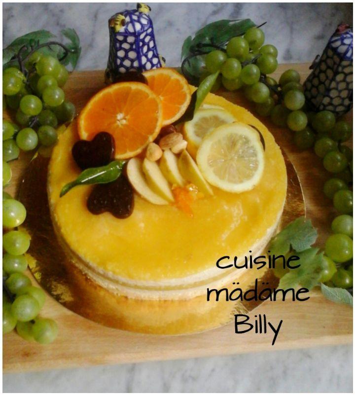 Cheescake au orange تشيز الكيك بالبرتقال