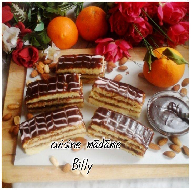 Tranches gâteau au chocolat. شرائح القاطو بالشوكولاته