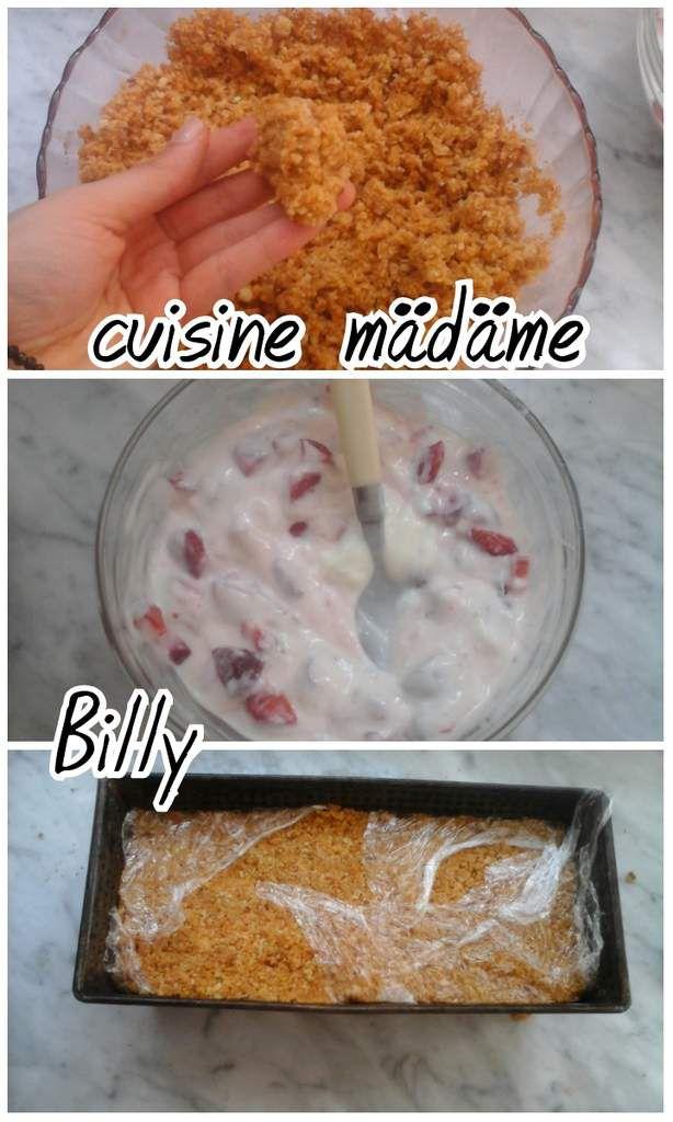Gâteau glacé au yaourt قاطو بالفراولة والياغورت