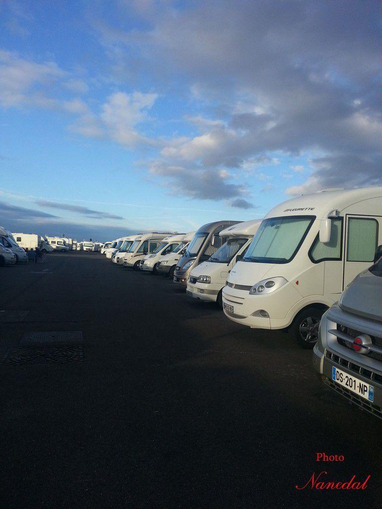 Beaucoup de camping-cars !