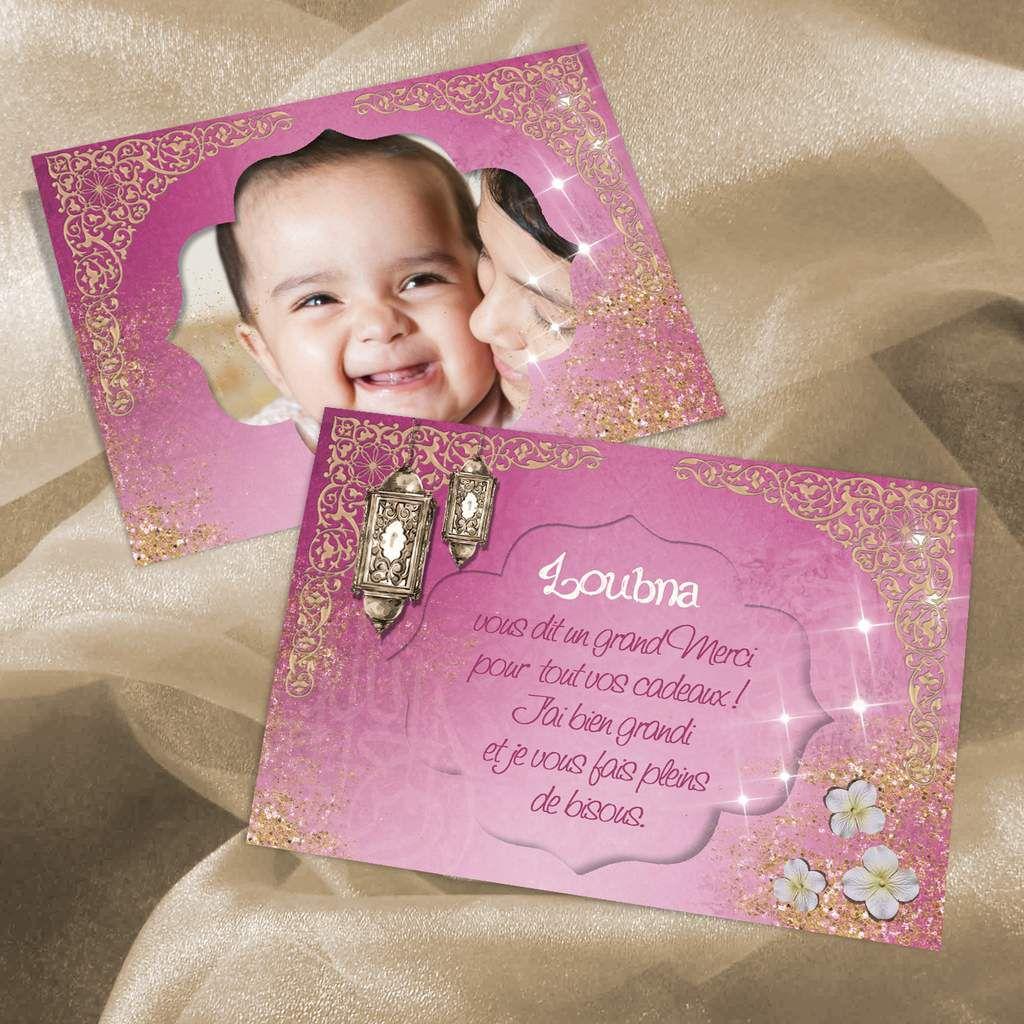 Connu Rose et or, faire-part de naissance oriental pour petite princesse  TT21