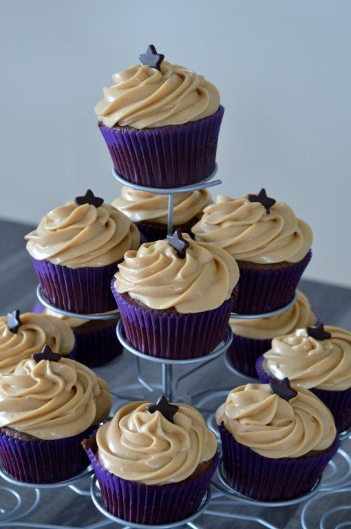 Cupcake Nutella, topping mascarpone Speculos