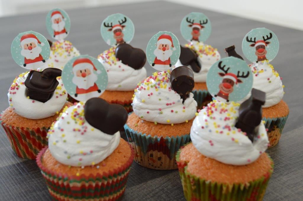Cupcakes topping chamallow