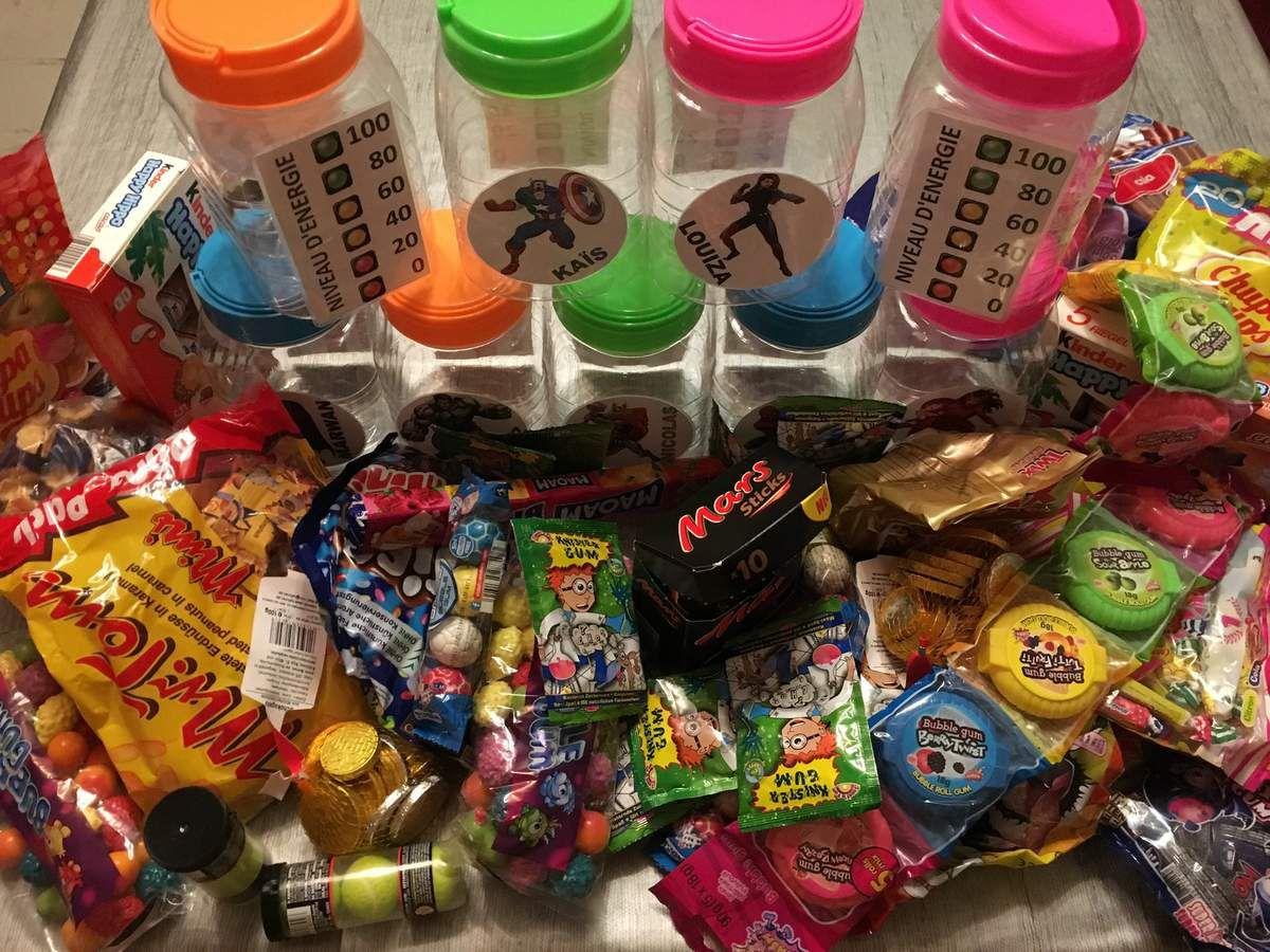 Première étape, faire rentrer un maximum de bonbons dans les boites.