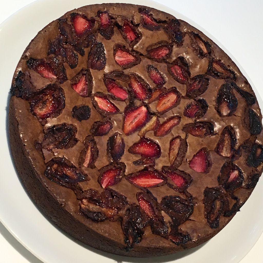 Brownie aux fraises de P. Marcolini